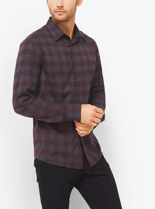 Michael Kors Tailored-Fit Checked Cotton Shirt