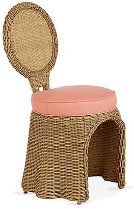 Lane Venture CELERIE KEMBLE FOR Crespi Side Chair - Coral Sunbrella