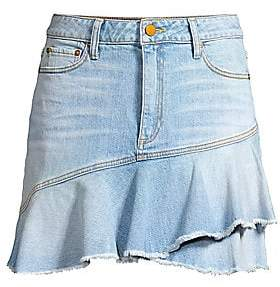 Alice + Olivia Jeans Jeans Women's Flounce Hem Denim Mini Skirt