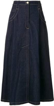 Nina Ricci high waisted denim skirt