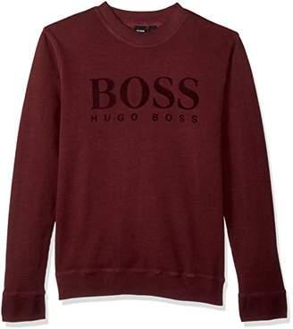 BOSS ORANGE Men's WLAN Long Sleeve Crew Neck Sweatshirt