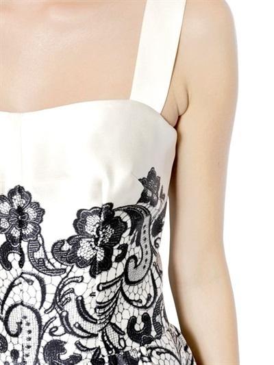 Dolce & Gabbana Lace & Double Duchesse Silk Dress