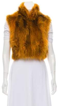 Adrienne Landau Fur Cropped Vest