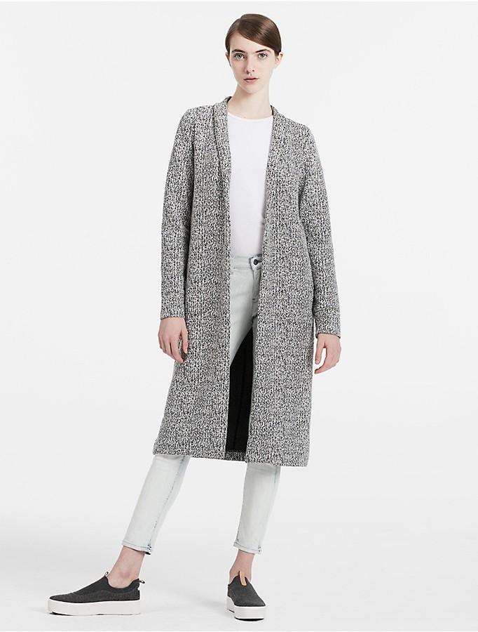 Calvin KleinMelange Jersey Coat
