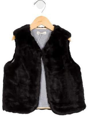 Anais & I Girls' Amelie Faux Fur Vest w/ Tags