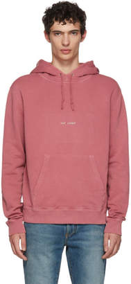 Saint Laurent Red Rive Gauche Logo Hoodie