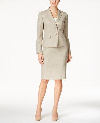 Le Suit Mélange Two-Button Skirt Suit $200 thestylecure.com