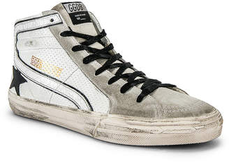 Golden Goose Slide Hi-Top Sneaker in White & Black | FWRD