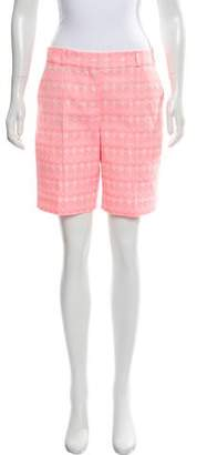 Diane von Furstenberg New Boymuda Circle Stitch Silk Shorts w/ Tags