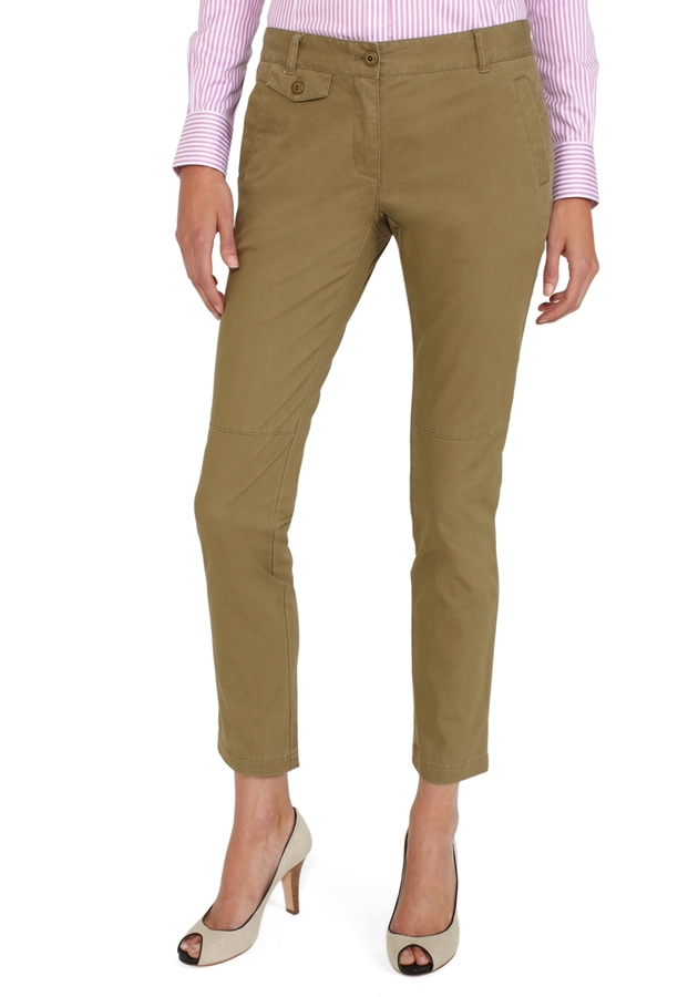 Brooks Brothers Cotton Stretch Flap Detail Pants