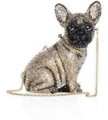 Judith Leiber Couture Pierre French Bulldog Crystal Clutch