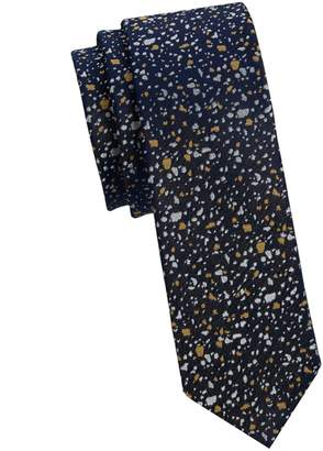 Saks Fifth Avenue Nhp Abstract Speckle Print Silk Tie