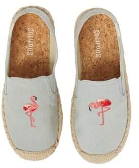 Soludos Flamingo Embroidered Espadrille