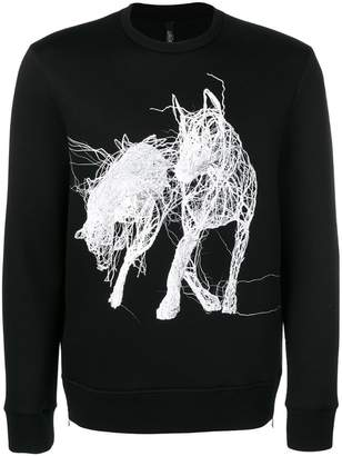 Neil Barrett Janusz Jurek print jumper