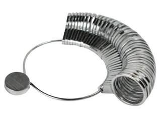 SE JT130RS 36-Piece Metal Ring Sizer