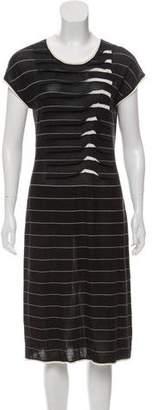 Armani Collezioni Striped Midi Dress