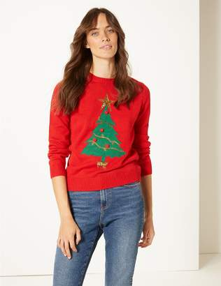 Marks and Spencer Customisable Christmas Tree Jumper