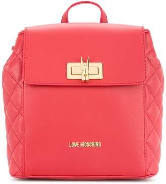 Love Moschino small twist lock backpack