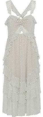 Marissa Webb Kenzie Ruffled Flocked Tulle Midi Dress