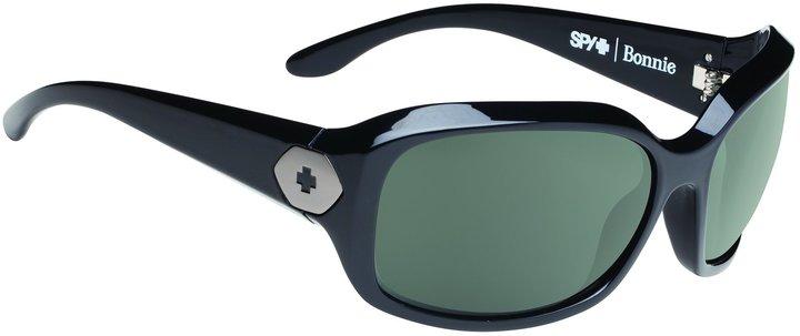 SPY Optics Bonnie Sunglass Black Frame Happy Gray Green Lenses Size 62-17-120