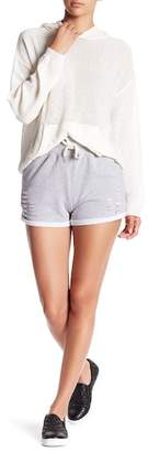 Honey Punch Distressed Knit Shorts