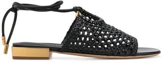 Salvatore Ferragamo woven Gancio sandals