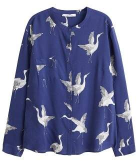 Violeta BY MANGO Mao collar blouse