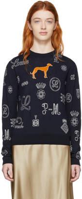 Loewe Navy Logos Sweater
