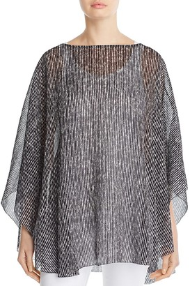 Eileen Fisher Silk Print Poncho - 100% Exclusive $198 thestylecure.com