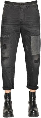 Carrot Chino Patch Cotton Denim Jeans $353 thestylecure.com