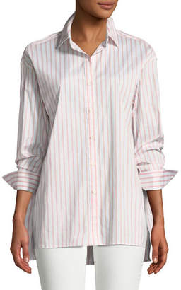 Lafayette 148 New York Jessie Striped Button-Front Blouse