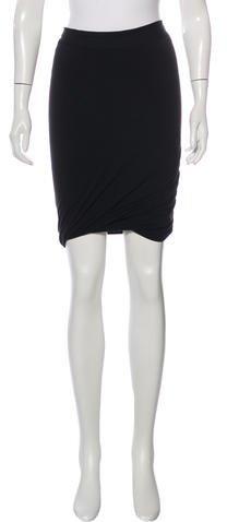 Alexander WangT by Alexander Wang Knit Knee-Length Skirt
