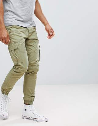 Solid Cargo PANTS With Cuffed Hem