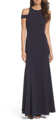 Women's Vera Wang Cold Shoulder Gown $278 thestylecure.com