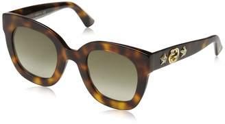 Gucci Gg 0208S 003 Havana Plastic Fashion Sunglasses Gradient Lens