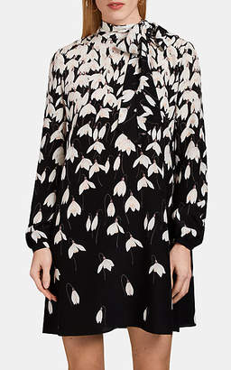 Valentino Women's Floral Silk Dress - Black