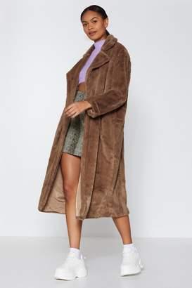 Nasty Gal Go Long Faux Fur Coat