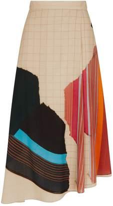 Akris Abstract Midi Skirt