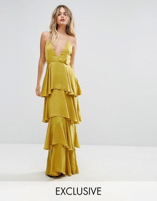 Missguided Tiered Ruffle Maxi Dress $79 thestylecure.com