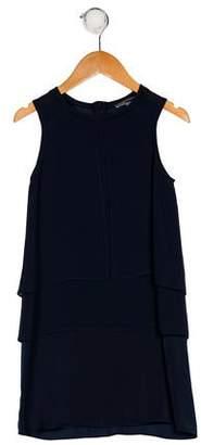 Vince Girls' Sleeveless Crew Neck Dress