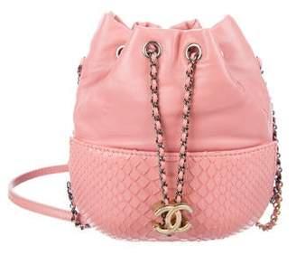 Chanel 2017 Small Python Gabrielle Purse Bag