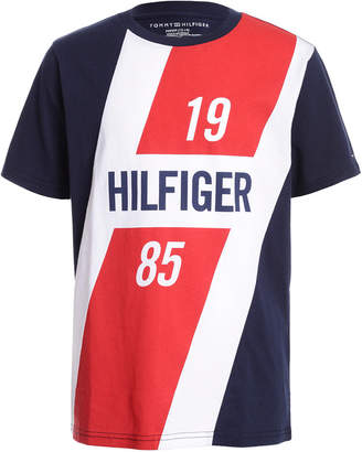 Tommy Hilfiger Little Boys Colorblocked Logo Panel T-Shirt