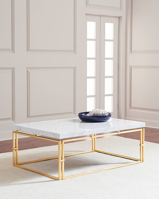 John-Richard Collection John Richard Collection Calabria Marble-Top Coffee Table