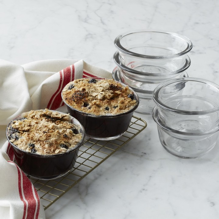 Oval Glass Baking Cups, Set of 4
