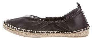 Vince Round-Toe Leather Espadrilles
