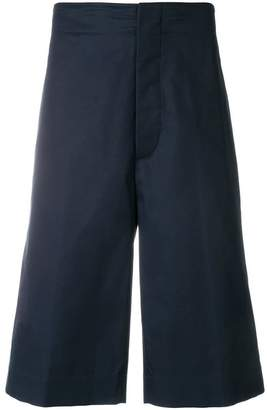 Jil Sander wide leg bermuda shorts