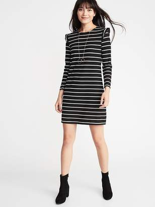 Old Navy Ruffle-Trim Ponte-Knit Shift Dress for Women