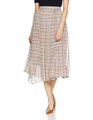 Snidel (スナイデル) - [スナイデル] スカート チェックランダムプリーツロングスカート SWFS191125 GRY 日本 F (FREE サイズ)