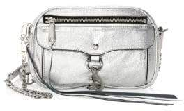 Rebecca Minkoff Blythe Distressed Metallic Leather Crossbody Bag