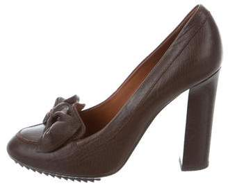 Lanvin Leather Bow Pumps
